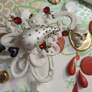 Vanitas; ceramic and vinyl room installation