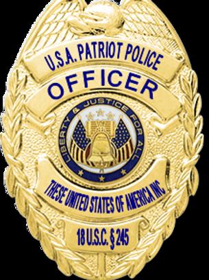 Constitutional Law Enforcement Patriol Badge