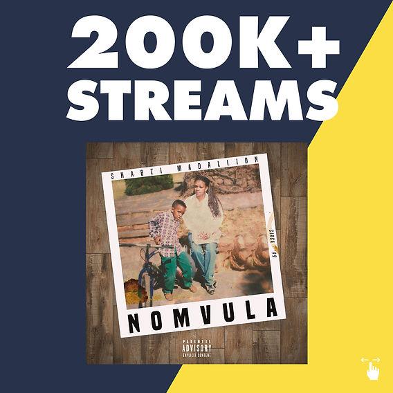 200k Streams Nomvula