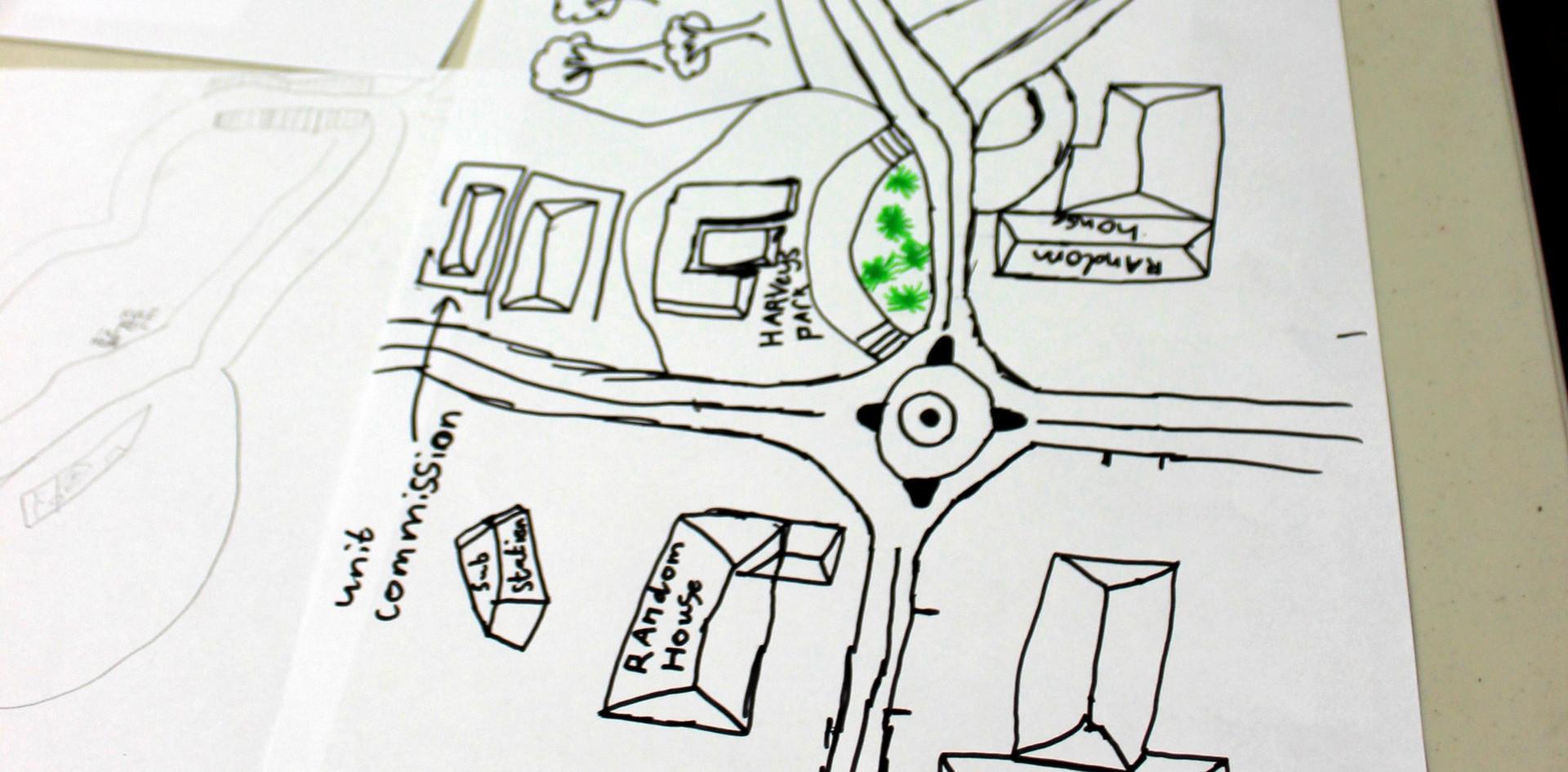 Cygnet map designed by school kids