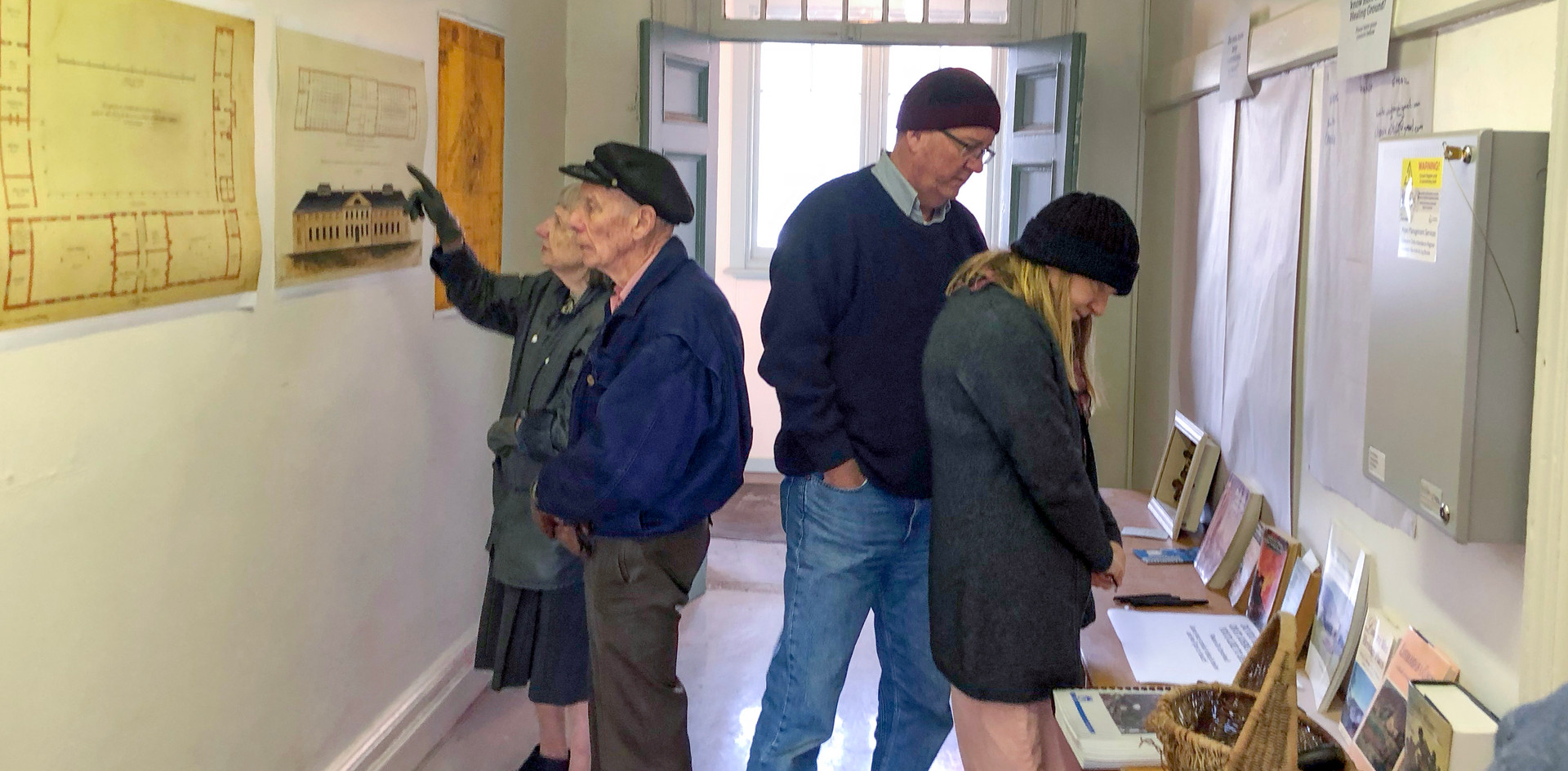 People looking at plans - Healing Ground Open Day