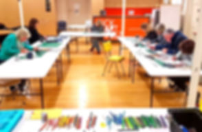 Dare to draw art workshop at Kickstart Arts