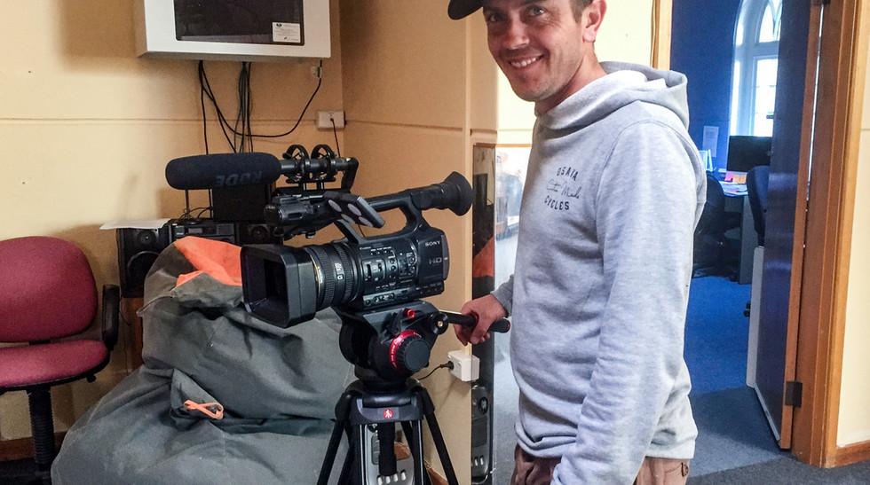 Nathan with camera