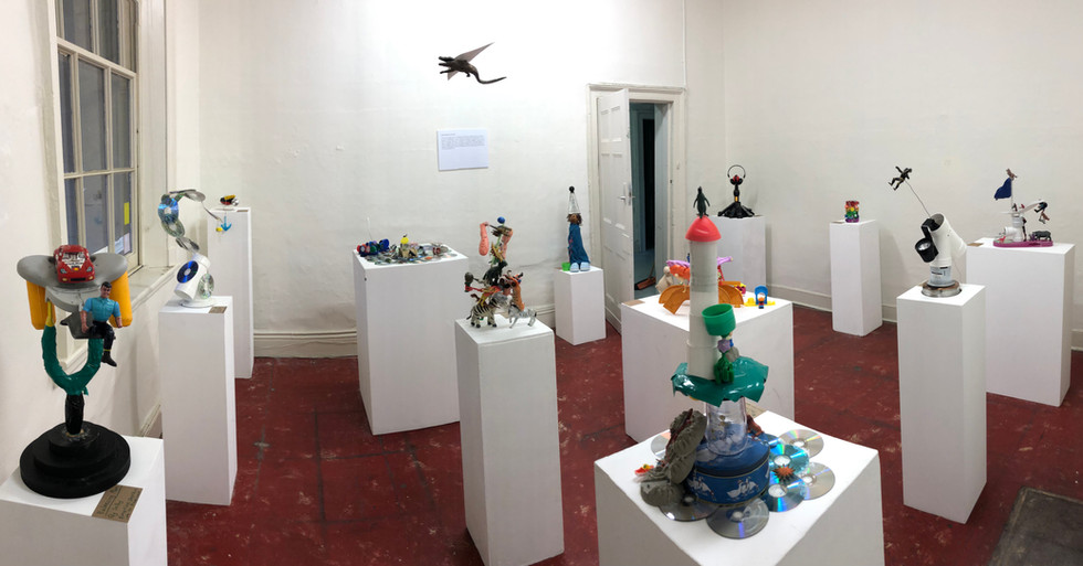 Kids junk sculptures gallery wide pic by