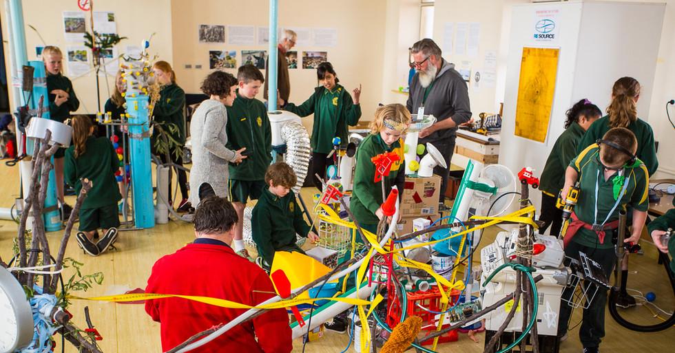 Wide of sculpture making workshop
