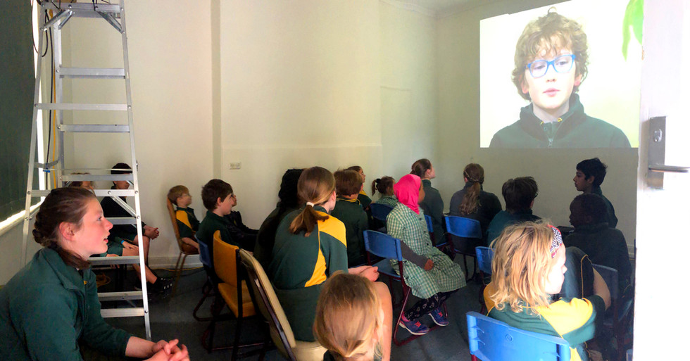 Pop up cinema audience New Town Primary