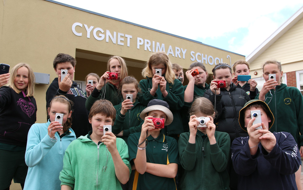 The Cygnet Primary School Happiness Project Whole Team Shot