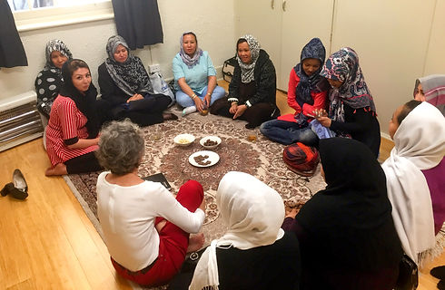 Hazara circle in Living Room by Caroline Amos