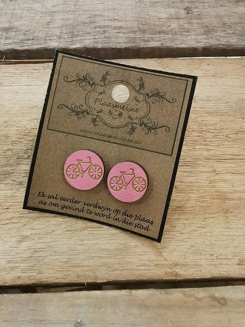 Earrings - Pink Bicycle