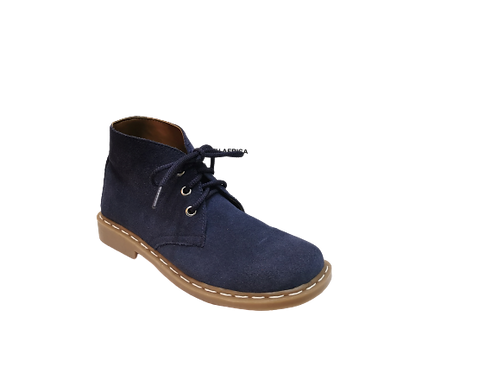 Safari Ladies Vellies Ankle Boot - Navy