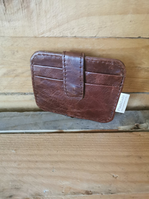 Card Wallet with Clip - Tan Rust