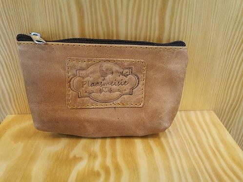Plaasmeisie Leather Zip Bag - Diesel Tan (16x8)