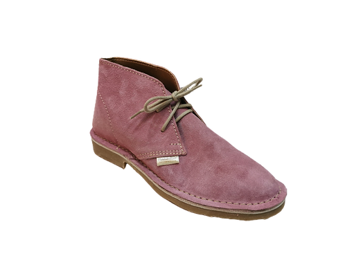 Rosalie Ladies Suede Vellies - Light Pink