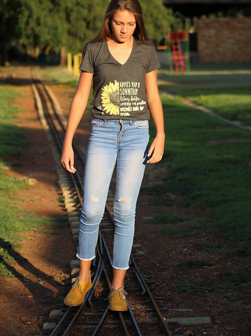 Ladies T-shirt - Sunflower (Grey)