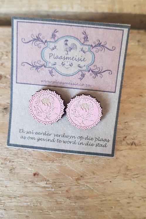 Earrings - Protea Pink