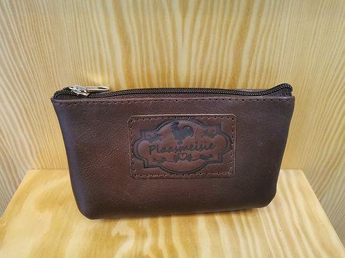 Plaasmeisie Leather Zip Bag - Rust Tan (16x8)