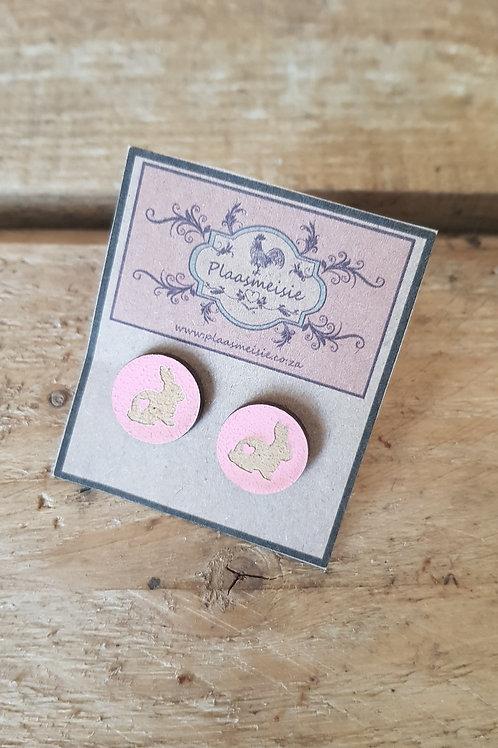 Earrings - Bunny Pink