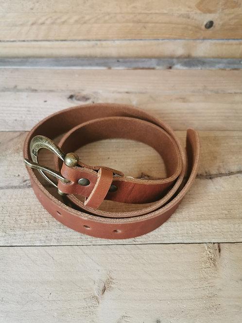 Ladies Leather Belt - Tan