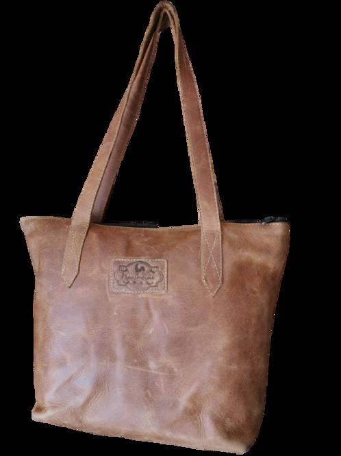 Stella Leather Tote Bag - Diesel Tan