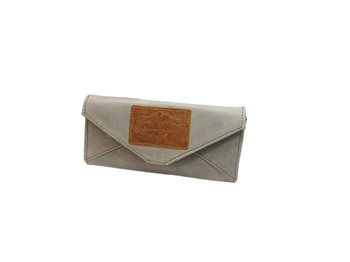 Annie Ladies Leather Purse-Envelope Diesel Grey