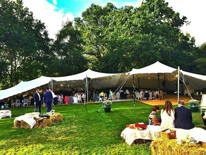 Flexible venue and bell tent accomodation