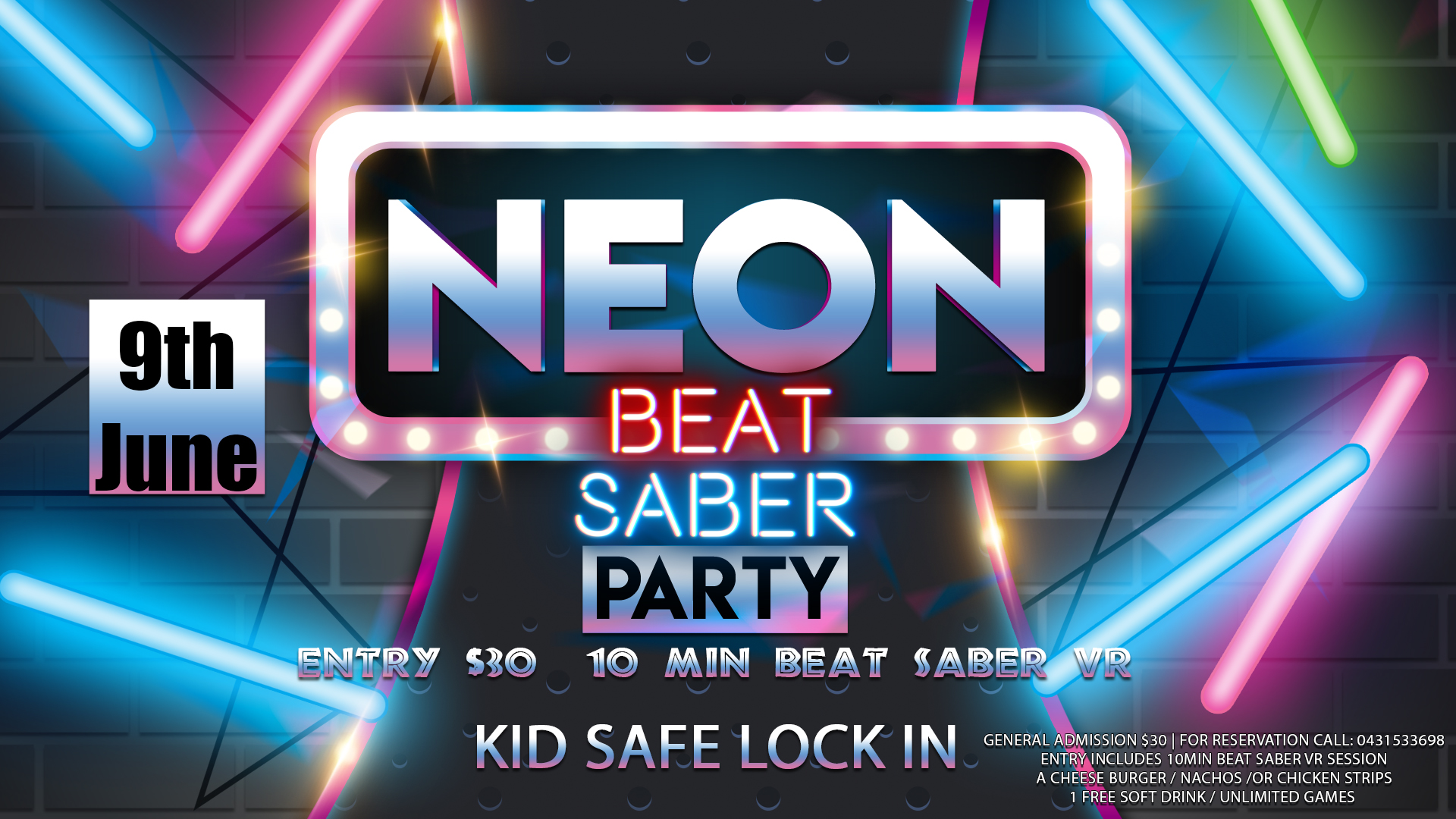 Neon Beat Saber Party