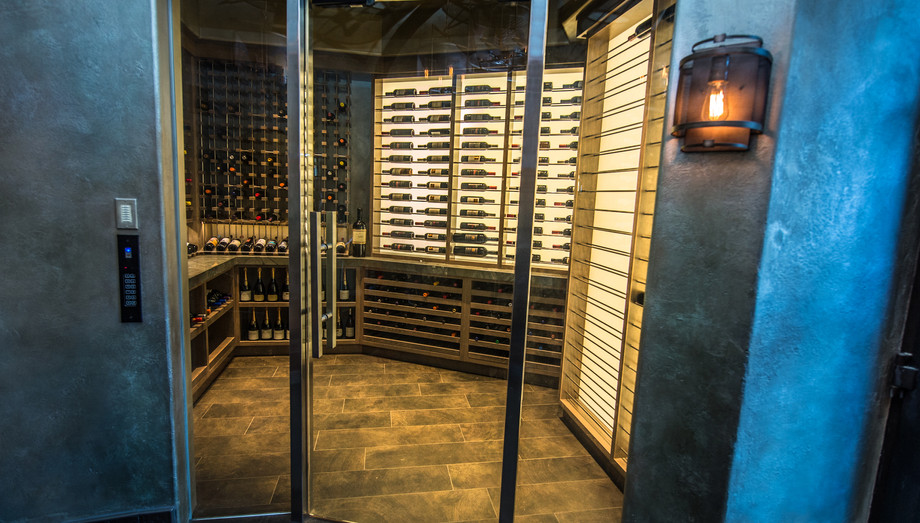 Backlighting is a popular  addition to horizontal racking