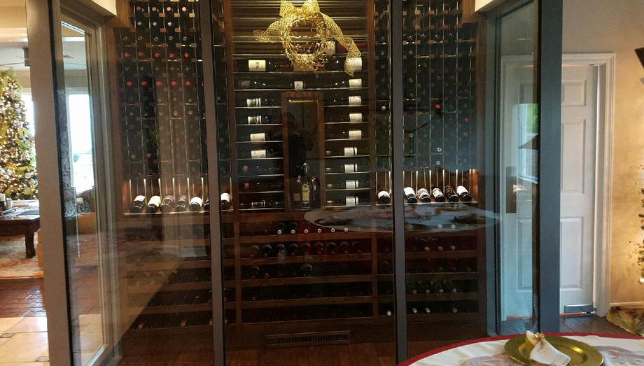 Glass gives a beautiful appearance to wine storage