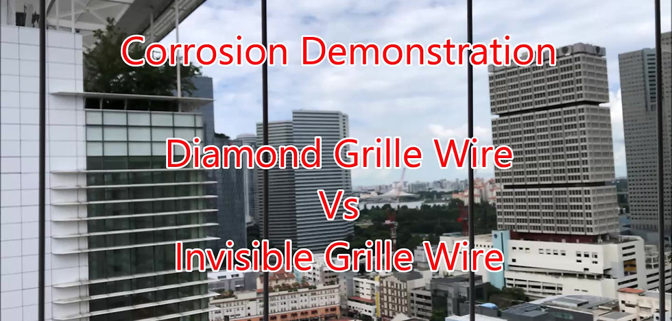Diamond Grille Wire vs Invisible Grille Wire Corrosion Demonstration