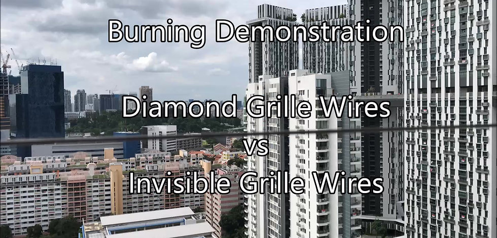 Diamond Grille Wire vs Invisible Grille Wire Burning Demonstration