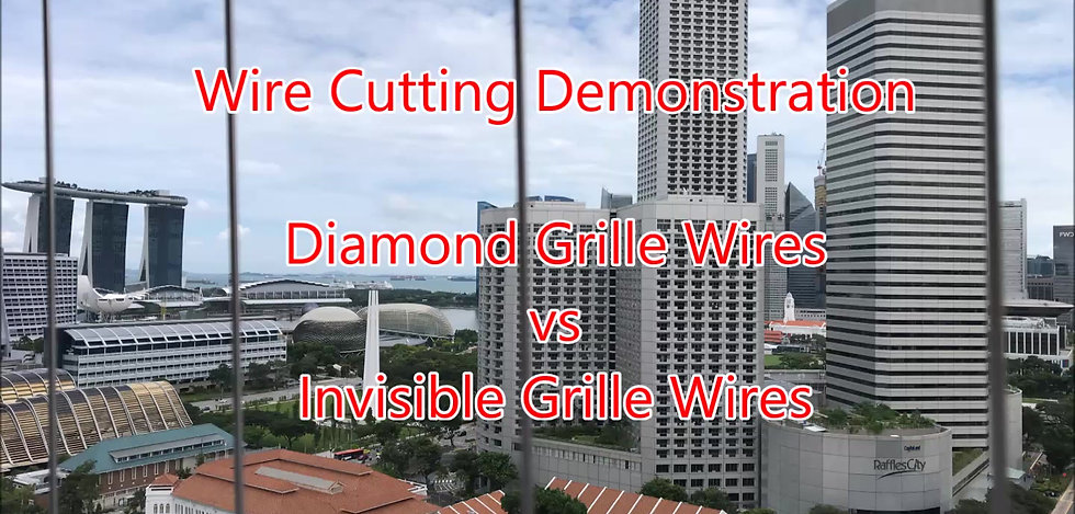 Diamond Grille Wire vs Invisible Grille Wire Cutting Demonstration