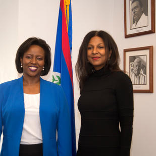 The First Lady of the Republic of Haiti attends a conference organized by SCLAN