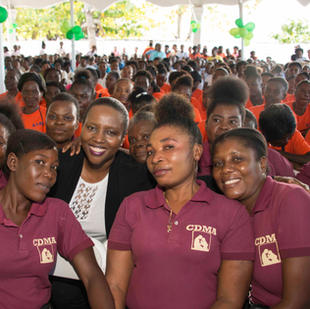 For International Women's Day, Martine Moïse went to Anse-à-Foleur