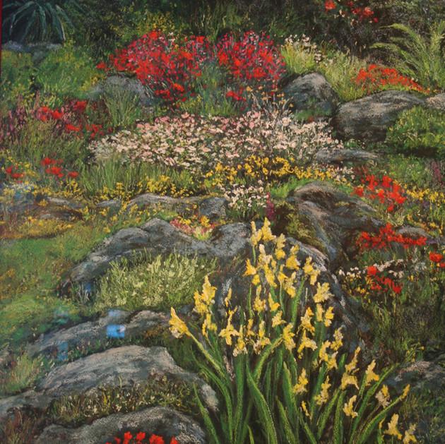 Rock Garden with Iris