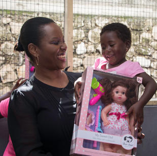 Martine Moïse, the mother Christmas of Haitian children.