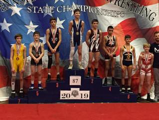 Mason Kernan 7th at the Jr High States