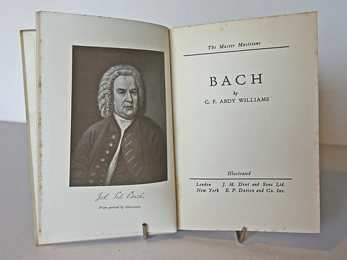 Bach, Illustrated composer Biography 1934 Music Book Gifts Antique vintage