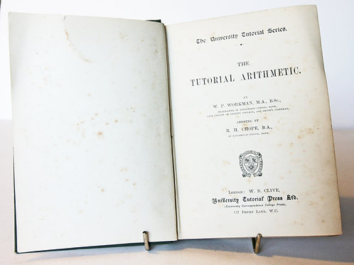 Antique Arithmetic Maths Book