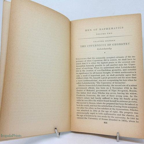 Mathmaticians Biography Men of Mathmatics Vintage Book  1953 Classic Reference m