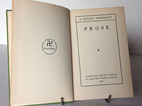 Kipling Anthology of Prose 1922