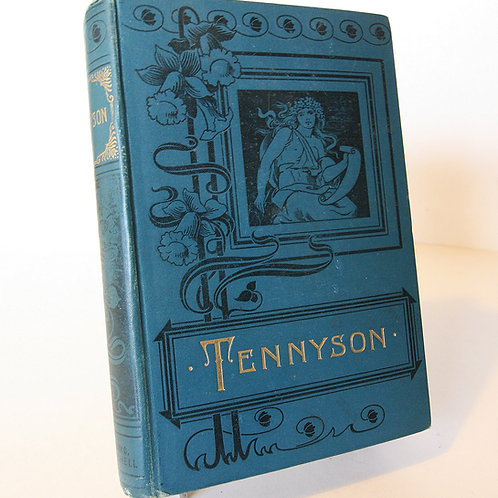 Antique Poetry Book Tennyson