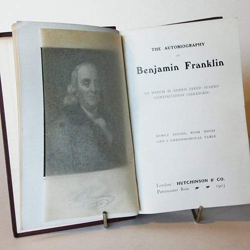 Autobiography of Benjamin Franklin 1903