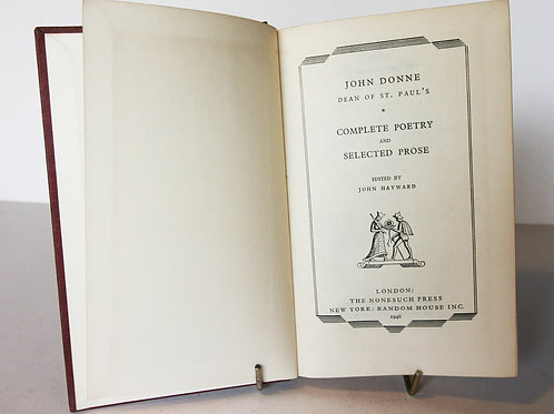 Donne complete Poetry & selected Prose 1946