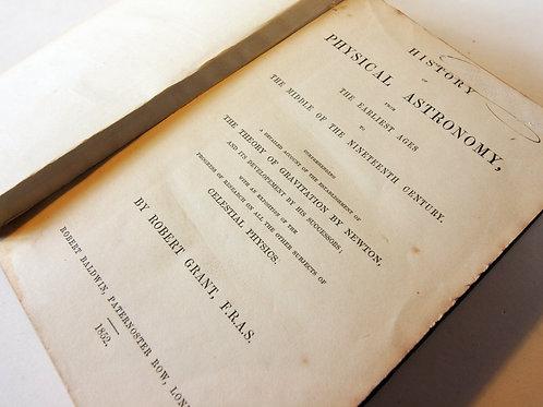 Antique Hardback Astronomy book 1852