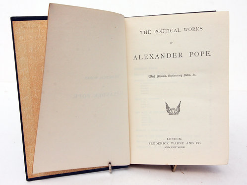 Antique Pope Poetical works 1900s