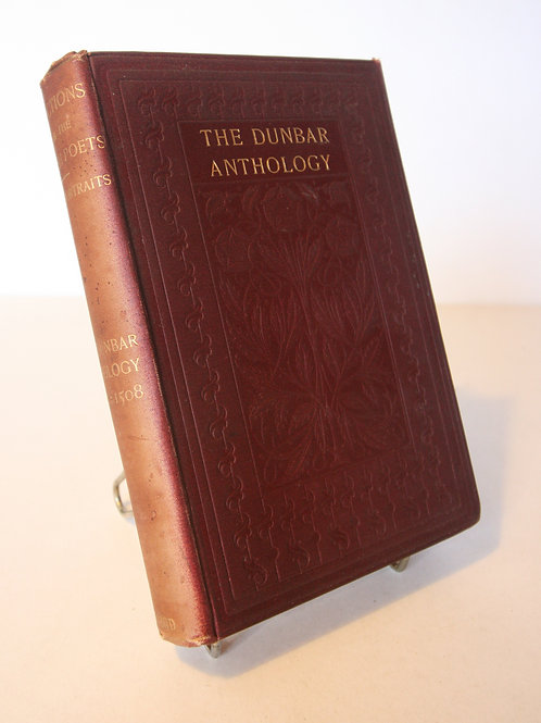 Antique Poetry Book The Dunbar Anthology 1401 - 1508