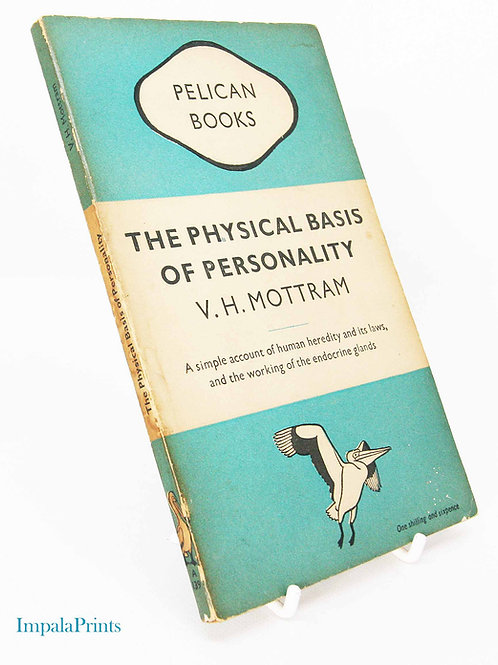 Personality Physical Basis 1940s Psychology Pelican Series Vintage Factual book