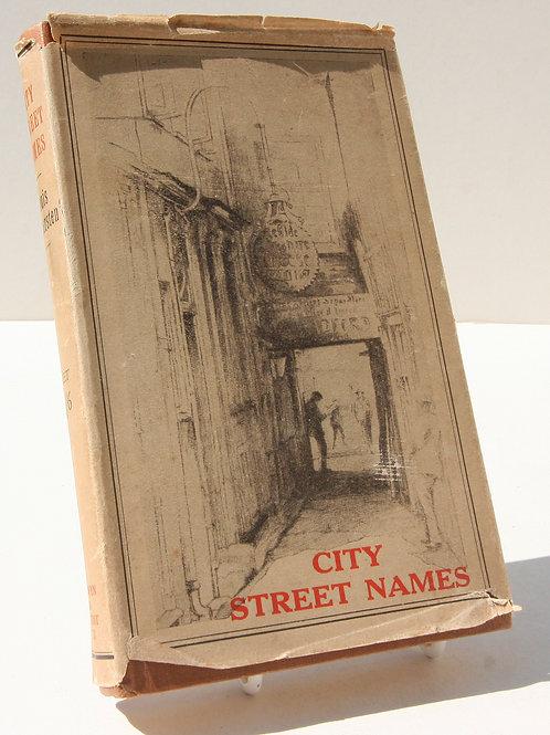 London Street Names 1920s