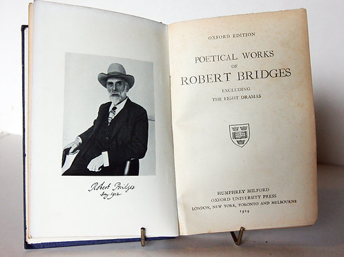 Robert Bridges Poetry Book