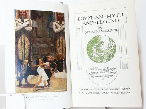 Egyptian Mythology and Legend 1910s Antique Vintage Book Hardback Egypt History